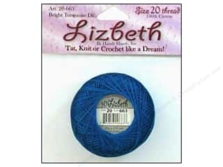 Lizbeth Thread Size 20  #663 Bright Turquoise Dark