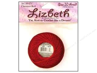 Lizbeth Thread Size 20  #671 Christmas Red
