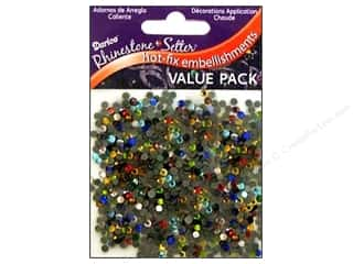 beading & jewelry making supplies: Darice Hot Fix Glass Rhinestones 3 mm Assorted 1000 pc.