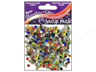 beading & jewelry making supplies: Darice Hot Fix Glass Rhinestones 4 mm Assorted 750 pc.