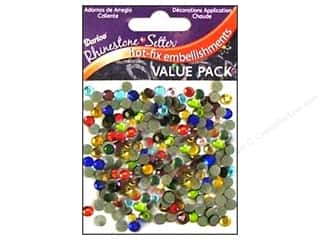 beading & jewelry making supplies: Darice Hot Fix Glass Rhinestones 5 mm Assorted 400 pc.