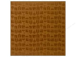 Bazzill 12 x 12 in. Cardstock Glazed #303312 Neighborhood Walnut 15 pc.