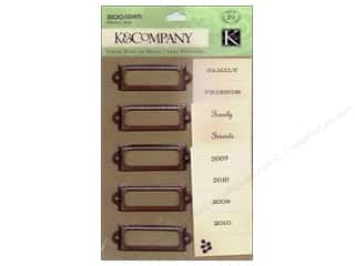 K&Company Metal Art Eco Modern Label Holders
