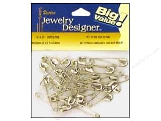 jewelry safety pin: Darice Jewelry Designer Safety Pins #2 Silver Plate Steel 90pc
