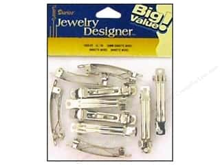 Darice Hair Barrette with Auto Clasp 2 in. Nickel 18 pc.
