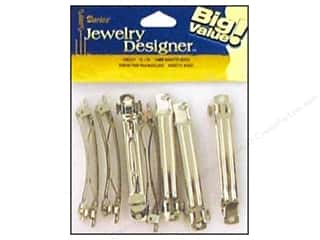 Darice Hair Barrette with Auto Clasp 2 3/4 in. Nickel 12 pc.