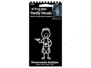 Plaid Peeps Family Decals Outdoor Boy