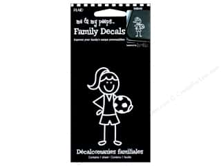 Plaid Peeps Family Decals Soccer Girl