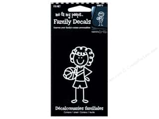 craft & hobbies: Plaid Peeps Family Decals Basketball Girl