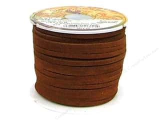 More for Less Sale Leather Factory Suede Lace: Leather Factory Suede Lace 1/8 in. x 25 yd. Medium Brown (25 yards)