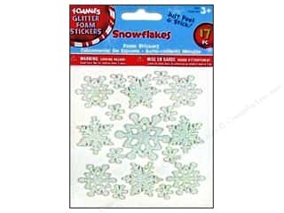 Clearance Darice Foamies Sticker: Darice Foamies Stickers Snowflakes 17 pc.