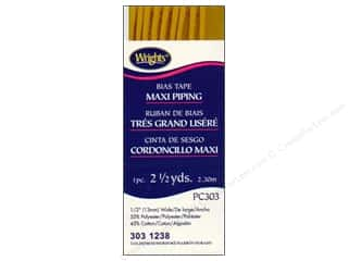 wrights bias tape: Wrights Bias Tape Maxi Piping Goldenrod 2 1/2 yd.