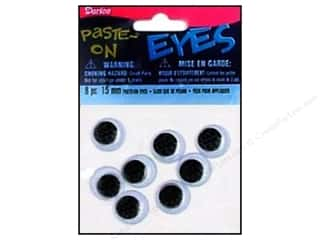 Darice Googly Eyes Paste-On 15 mm Black 8 pc.