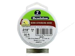 beading & jewelry making supplies: Beadalon Bead Wire 7 Strand .018 in. Bright 30 ft.