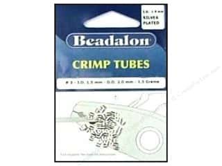beading & jewelry making supplies: Beadalon Crimp Tubes 2 mm Silver .05 oz.