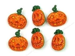 Buttons: Jesse James Dress It Up Embellishments Button Halloween Collection Glitter Pumpkins