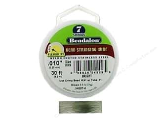beading & jewelry making supplies: Beadalon Bead Wire 7 Strand .010 in. Bright 30 ft.