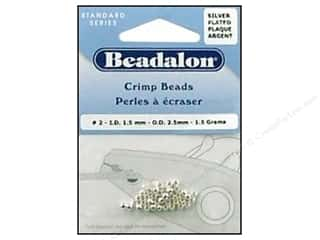beading & jewelry making supplies: Beadalon Crimp Beads 2.5 mm Silver .05 oz.