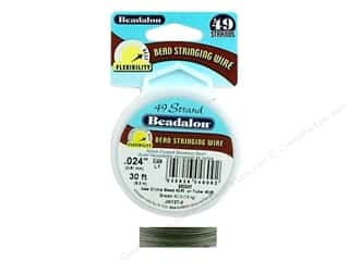 seed beads: Beadalon Bead Wire 49 Strand .024 in. Bright 30 ft.