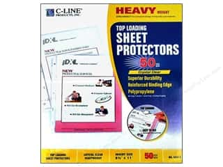 scrapbooking & paper crafts: C-Line Sheet Protector 8 1/2 x11 in. Top Load Heavy Weight (50 pieces)
