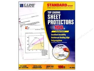 art, school & office: C-Line Sheet Protector 8 1/2 x11 in. Top Load Clear (100 pieces)