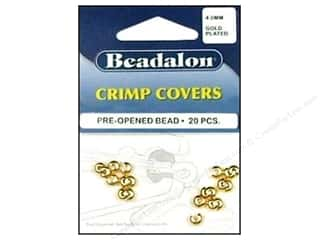 Beading & Jewelry Making Supplies: Beadalon Crimp Covers 4 mm Gold 20 pc.