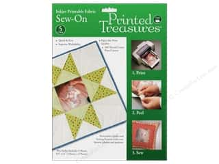 Inkjet Fabric Sheets by Printed Treasures Sew On 5 pc.