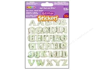 Darice Foamies Alphabet Stickers 55 pc. Glitter White