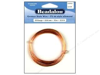 beading & jewelry making supplies: Beadalon German Style Wire 22ga Round Copper 32.8 ft.