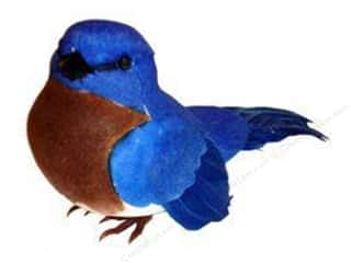 decorative floral: Midwest Design Artificial Birds 3.88 in. Feather East Bluebird 1 pc.