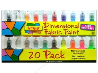 neon glitter: Scribbles Dimensional Fabric Paint Set 20 pc