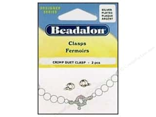 clasps: Beadalon Crimp Duet Clasps #1 Silver Plated 2 pc.