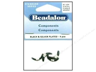 beading & jewelry making supplies: Beadalon Eyeglass Holder Black/Silver 4 pc.