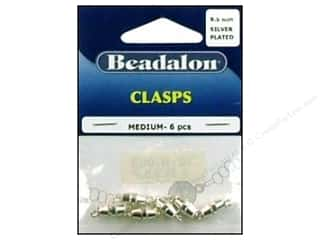 Beadalon Barrel Clasps Medium 9.5mm Silver 6pc