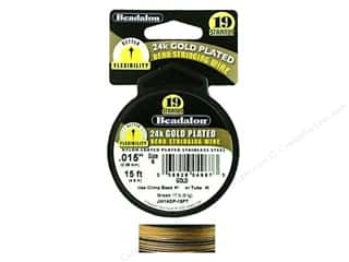 Beadalon Bead Wire 19 Strand .015 in. 24k Gold Plated 15 ft.