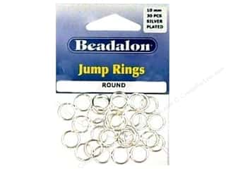 beading & jewelry making supplies: Beadalon Jump Rings 10 mm Silver 30 pc.