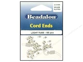Beadalon Greek Leather Cording : Beadalon Cord Ends Light 1.5 mm Silver Plated 60 pc.