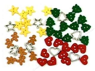 craft & hobbies: Jesse James Embellishments Holiday Collection Itty Bitty Cut Out Cookies