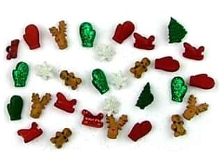 scrapbooking & paper crafts: Jesse James Dress It Up Embellishments Christmas Collection Christmas Miniatures