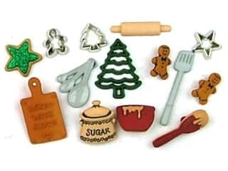 craft & hobbies: Jesse James Dress It Up Embellishments Christmas Collection Christmas Cookies
