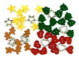 scrapbooking & paper crafts: Jesse James Embellishments Holiday Collection Itty Bitty Cut Out Cookies