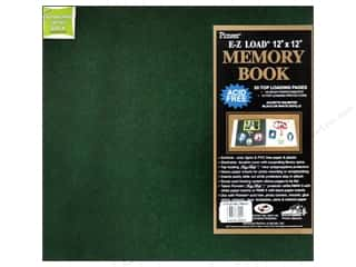 scrapbooking & paper crafts: Pioneer Scrapbook Album 12 x 12 in. Leatherette Hunter Green