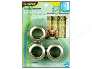 Grommet Attacher / Eyelet Attacher: Dritz Home Curtain Grommets 1 in. Round Champagne 8pc