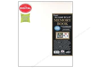 Pioneer Scrapbook Album 8 1/2 x 11 in. Leatherette White