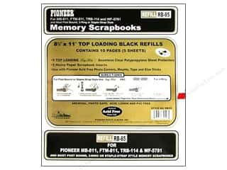 Pioneer Refill Page Scrapbook 8.5 in.  x 11 in. Black