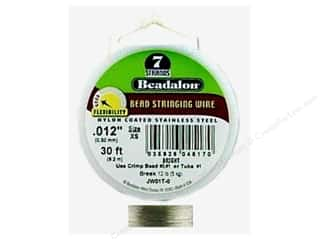 beading & jewelry making supplies: Beadalon Bead Wire 7 Strand .012 in. Bright 30 ft.