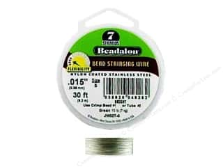 beading & jewelry making supplies: Beadalon Bead Wire 7 Strand .015 in. Bright 30 ft.