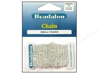 Beadalon Chains: Beadalon Figaro Chain 2.2 mm (.087 in.) Silver Plated 2 m (6.56 ft.)
