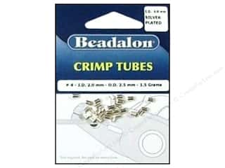beading & jewelry making supplies: Beadalon Crimp Tubes 2.5 mm Silver .05 oz.