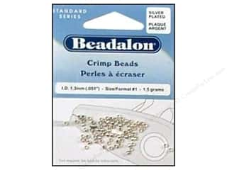 beading & jewelry making supplies: Beadalon Crimp Beads 2 mm Silver .05 oz.